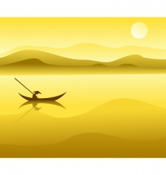 Chinese landscape vector image