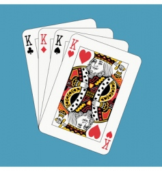 Kings poker vector