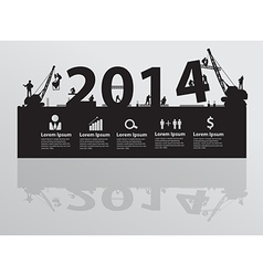 Construction site crane building 2014 text vector