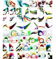 Mega collection of geometric abstract backgrounds vector