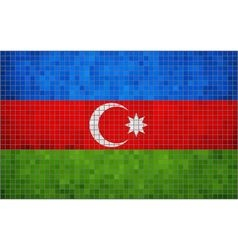 Abstract mosaic flag of azerbaijan vector