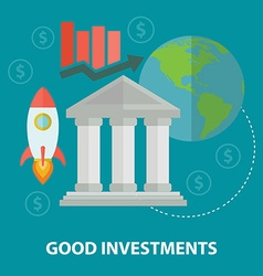 Flat design business concept investment for vector
