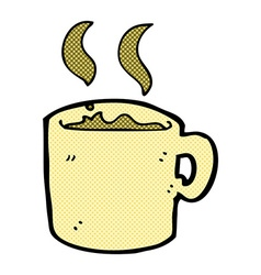 Comic cartoon mug of coffee vector