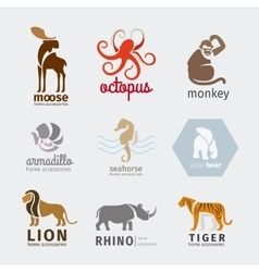 Animals logos vector
