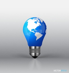 A light bulb with modern globe vector image