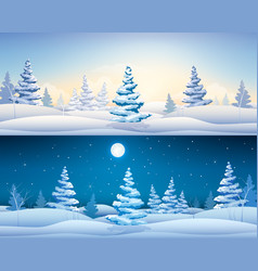 beautiful winter horizontal banners vector image vector image