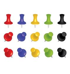 color push pins vector image vector image