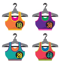 Colorful Sport Bras On Sale vector image vector image
