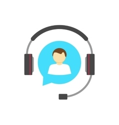 Customer help desk logo concept support service vector image
