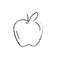 Figure delicious and healthy apple fruit vector