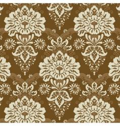 floral line pattern vector image vector image