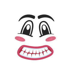 Fright emoji emoticon or smiley face vector