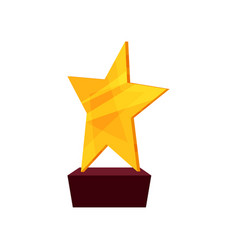 gold star award golden first place prize cartoon vector image