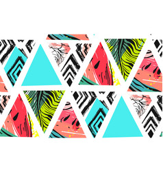 hand drawn abstract summer time collage vector image vector image