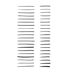 Hand-drawn lines set vector