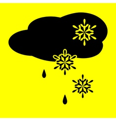 icon cloud snow and rain vector image vector image