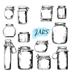 Jars Set of vector image vector image