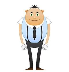Modest office worker in suspenders vector