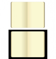 Moleskin note book vector