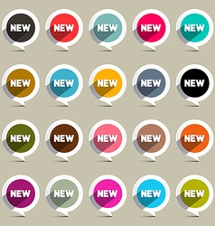New Circle Labels Set vector image vector image