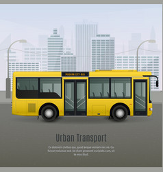 realistic city bus vector image