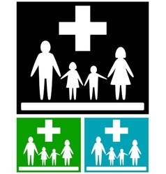 Set family medical icons vector