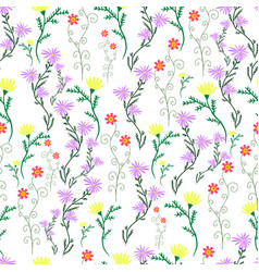 summer delicate wild flowers pastel color vector image vector image