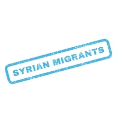 Syrian migrants rubber stamp vector