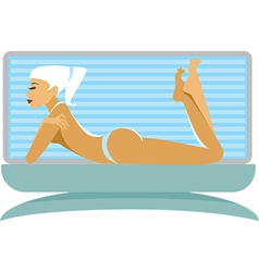 Tanning girl vector image