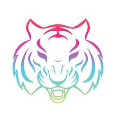 Tiger icon isolated on a white background Tiger vector image vector image