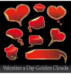 Valentine's stickers vector image vector image
