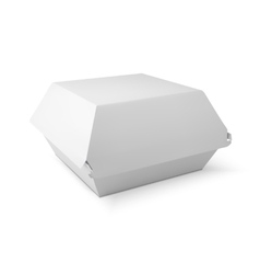 White food box packaging for hamburger lunch vector image vector image