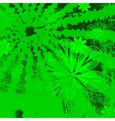 Green floral grunge vector