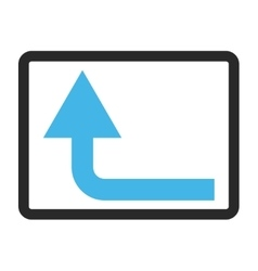 Turn forward framed icon vector