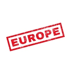 Europe rubber stamp vector
