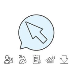 Mouse cursor line icon pointer sign vector