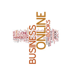 The online business handbook a must read for vector