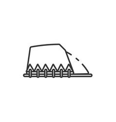 Thin line hill icon vector