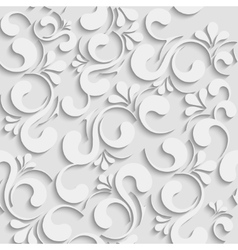 3d seamless floral background vector image