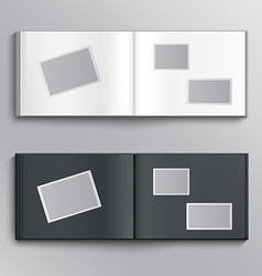 Blank photo album vector