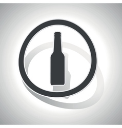 Alcohol sign sticker curved vector