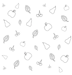 Seamless picture with various fruits vector
