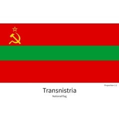 National flag of transnistria with correct vector