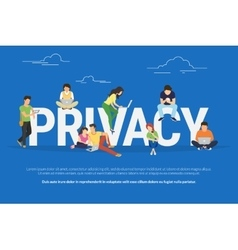 Privacy concept vector