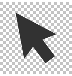 Arrow sign Dark gray icon on vector image vector image