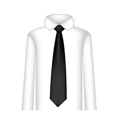 black tie with shirt icon vector image vector image