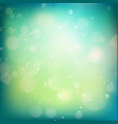 Blue and green defocused lights background eps 10 vector