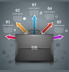 briefcase - business with color icon vector image