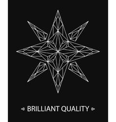 Brilliant Star Logo vector image
