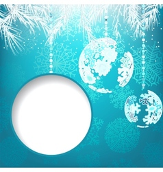 Christmas balls with ornament EPS8 vector image vector image